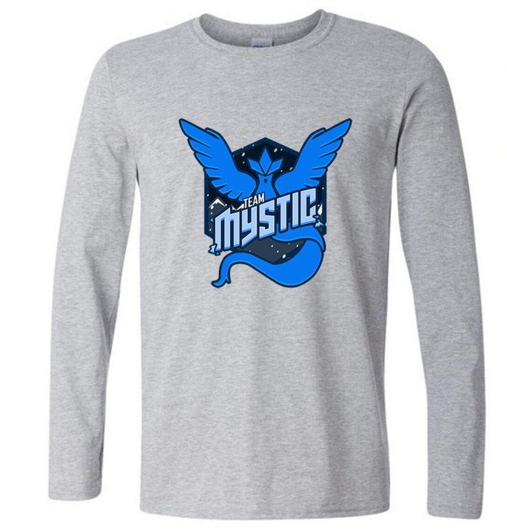 >> Click to Buy << 2016 Men Long Sleeve O-neck Pokemon Go Team Mystic Logo Famous Print Cotton Fitness Spring Autumn Shirt Homme Free Shipping #Affiliate
