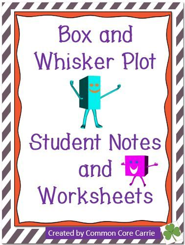 box and whisker plots notes and worksheets students. Black Bedroom Furniture Sets. Home Design Ideas