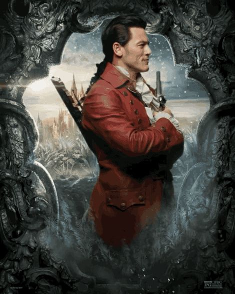 """Luke Evans as Gaston   Here's Our First Look At The Truly Magical """"Beauty And The Beast"""" Character Posters"""