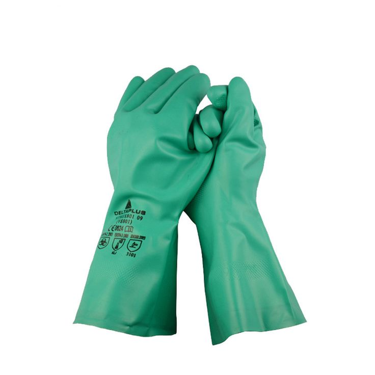 Butyl nitrile anti - chemical gloves Naisuan acid solvent painting operations 33cm straight flocking #Affiliate