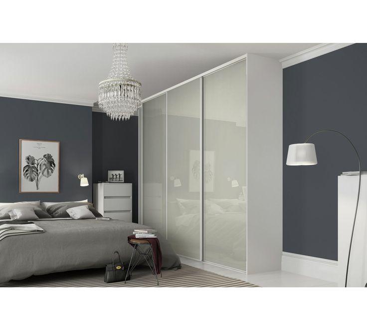 Buy Sliding Wardrobe Door W610mm Soft White Glass at Argos.co.uk, visit Argos.co.uk to shop online for Sliding wardrobe doors, Sliding wardrobes, Bedroom furniture, Home and garden