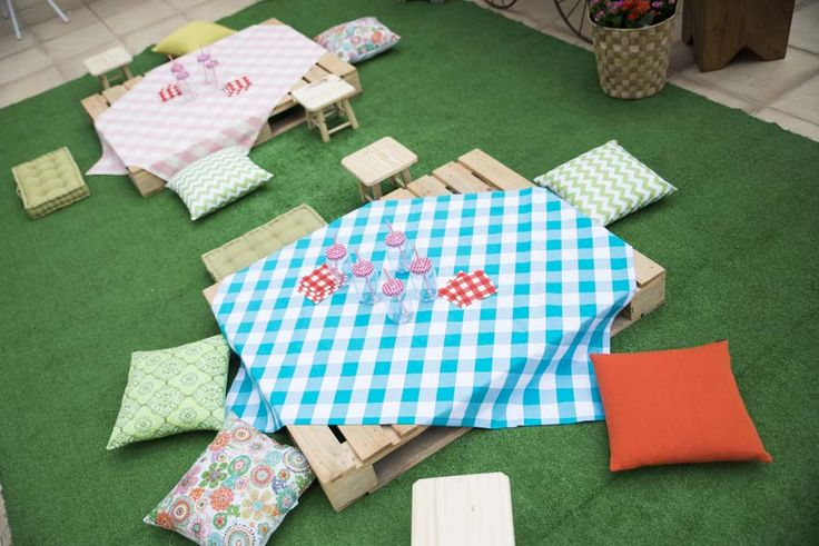 {Inspire Mom And Kids} Festa infantil dos gemeos Luana e Mateus com tema picnic. Decoração temática picnic.