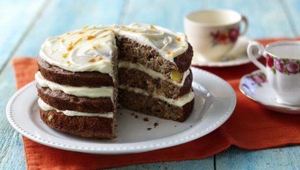 Hummingbird Cake GBBO Packed full of fruit, this impressive three-tiered cake would make an indulgent birthday cake.