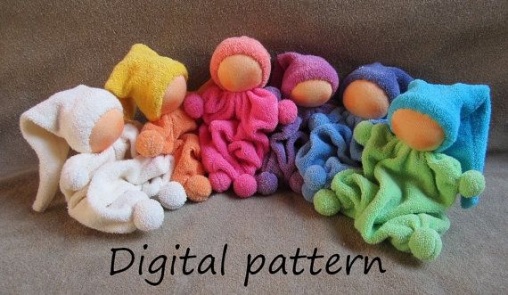 Pattern with instruction in English for rattling by BiBidolls