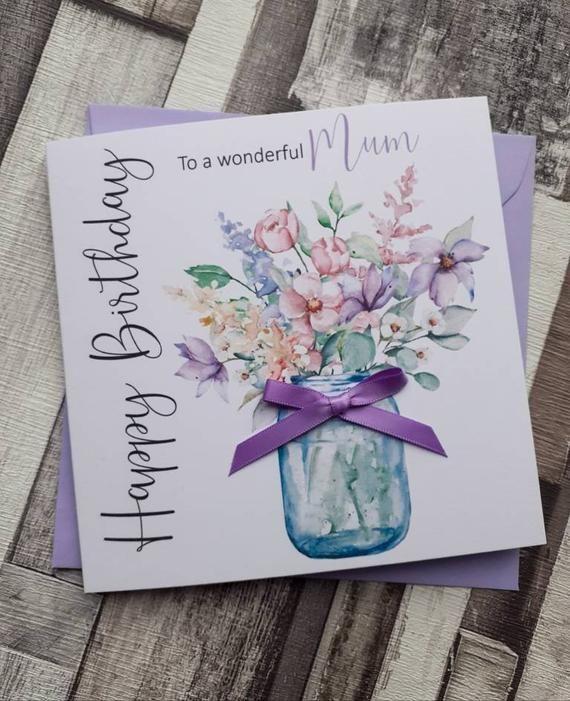 Handmade Birthday Card Mum Birthday Card Grandma Birthday Card Nanny Birthday Card Nan Birthday Card 50th 60th 70th 80th Grandma Birthday Card Birthday Cards For Mum Birthday Cards For Friends