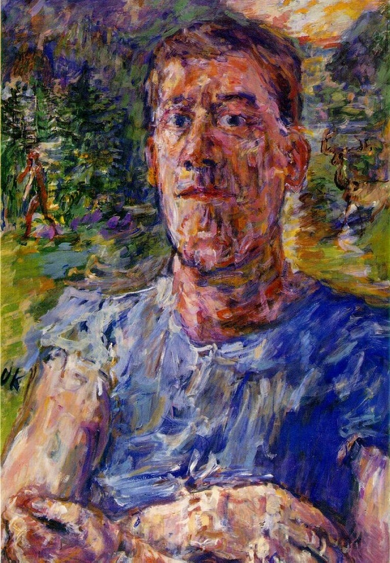 오스카 코코슈카의 자화상 / 오스트리아의 화가, 시인, 극작가로 1차대전 참전 후유증으로 정신 장애 판정을 받았다. 표현주의의 대가로 알려져있는 그는 심리묘사에 탁월했다. 자화상에서도 전쟁의 후유증, 심리상태를 잘 보여주고 있다.