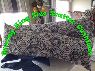 A Pretty Talent Blog: Sewing King Size Scatter Cushions