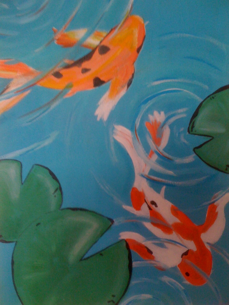 17 best images about art lesson ideas koi fish on for Koi fish pond for beginners