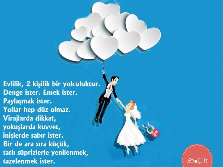 #GününSözü:  Evlilik, 2 kişilik bir yolculuktur. Denge ister. Emek ister. Paylaşmak ister. Yollar hep düz olmaz. Virajlarda dikkat, yokuşlarda kuvvet, inişlerde sabır ister. Bir de ara sıra küçük, tatlı süprizlerle yenilenmek, tazelenmek ister. #evlilik #güven #sadakat #sevgi #paylaşmak #mutluluk #süpriz