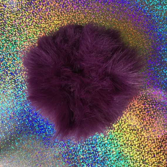 PLUM PERFECT Ultra FLUFFY Hair Scrunchie by GalacticExchange