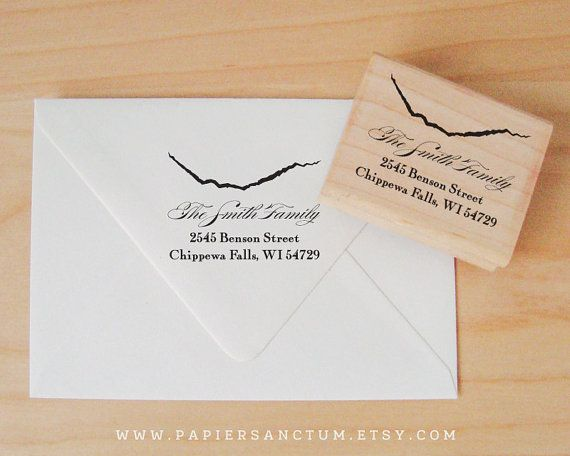 Make adding your return address or personalizing wedding favors a breeze with these custom rubber stamps. With several sizes and fonts to choose