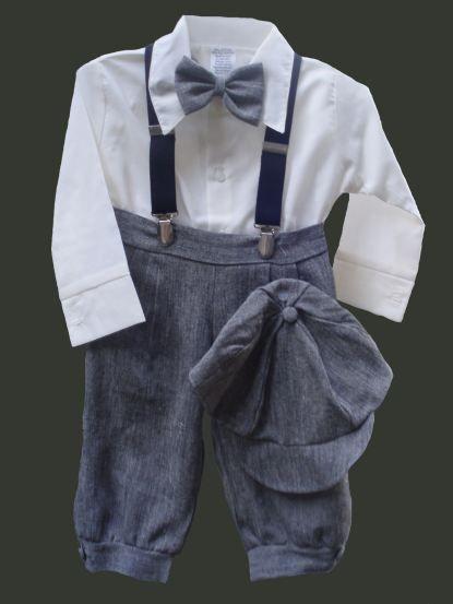 DapperLads - Knickerbocker Set - Granite - Infant / Baby Boy - infant size boys clothing, clothes for infants and baby boys