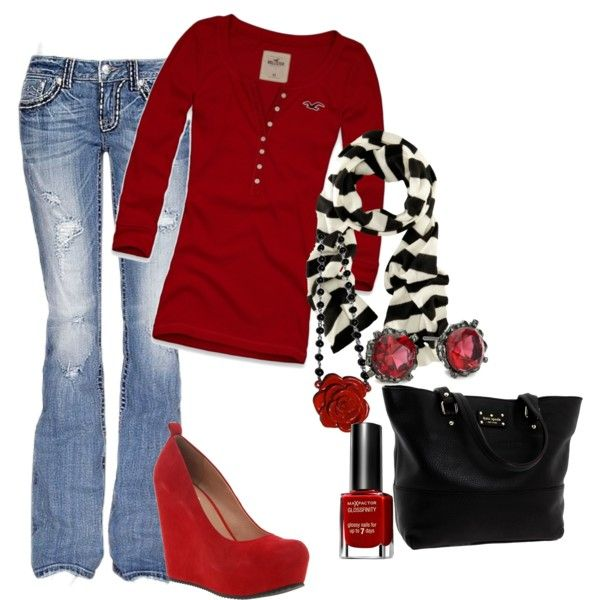 """""""Red outfit"""" yes!! Wedges!!"""