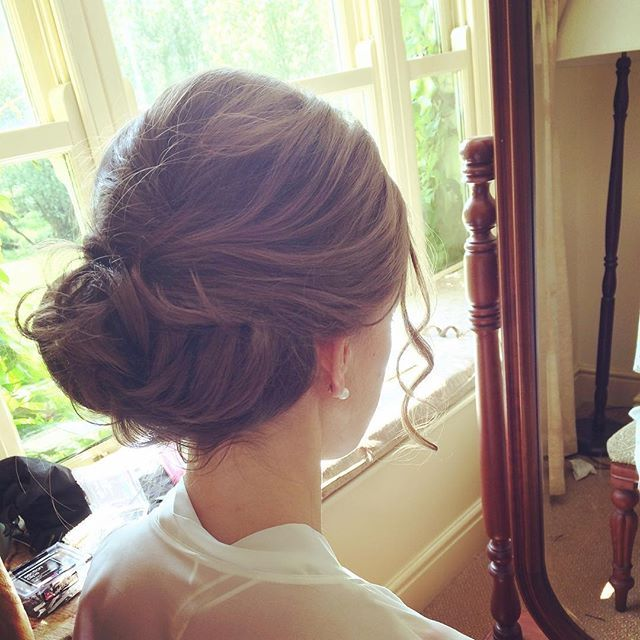 low, classic, soft, romantic upstyle  hair by Aisling Hamill