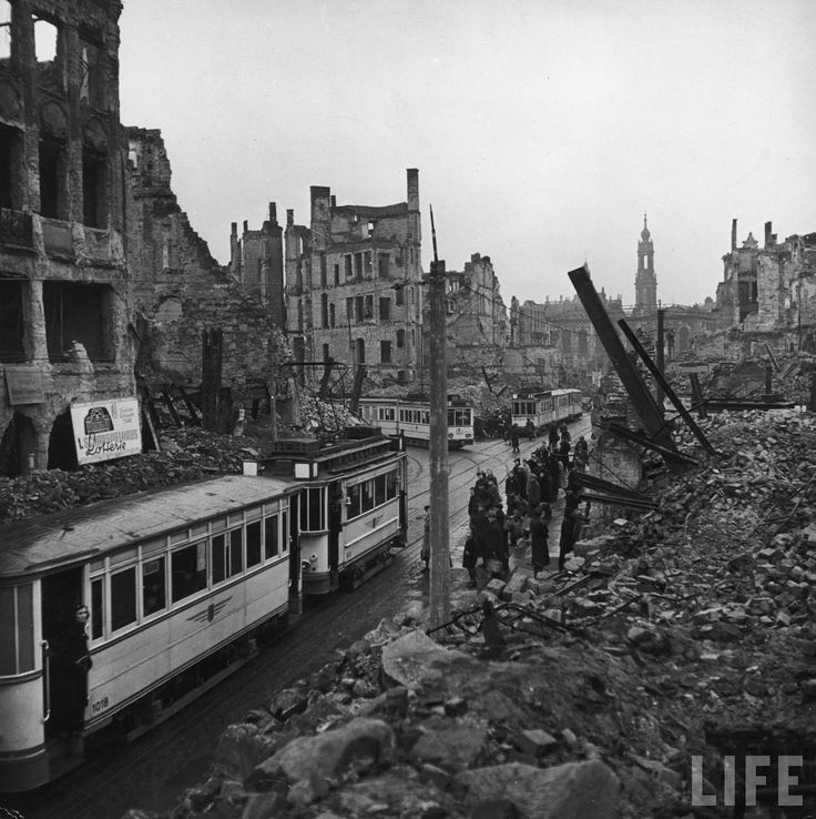 The Bombing of Dresden,  led by Royal Air Force and followed by the United States Army Air Force   February 13-15, 1945.