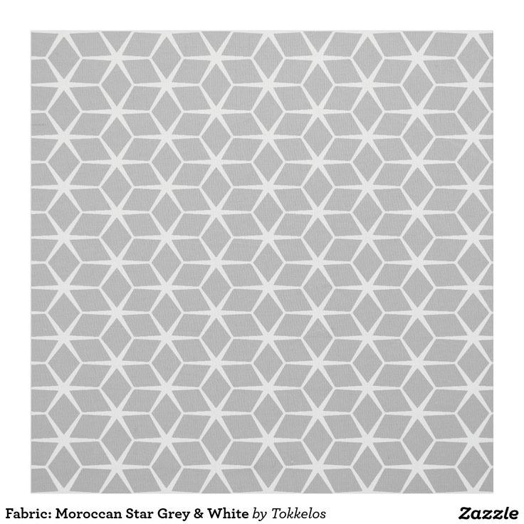 Fabric: Moroccan Star Grey & White