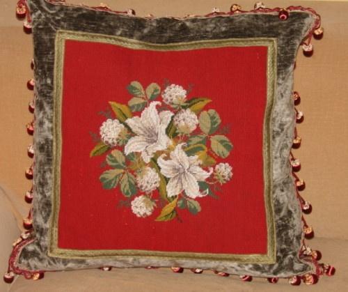 Victorian Era Pillows : 104 best images about Needlepoint Love on Pinterest
