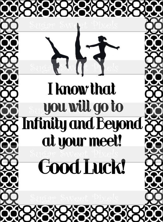 words for good luck in a gymnastics meet
