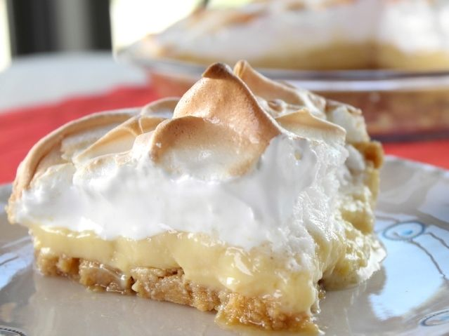 Magic Lemon Meringue Pie from Trisha Yearwood - I have a great lemon meringue pie recipe, but I might try this since it has a graham cracker crust for something different.