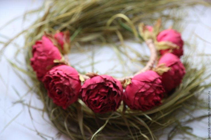 Купить ободок для волос - ярко-красный, ободок с цветами, ободок для волос, ободок ручной работы