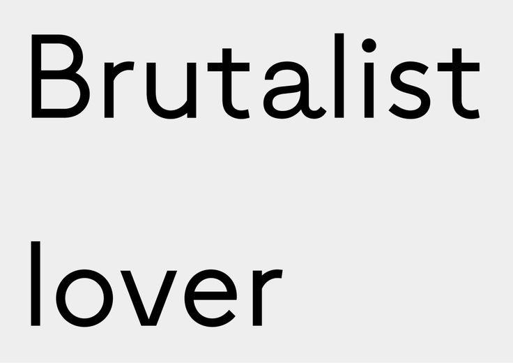 Bon Brun, typeface |