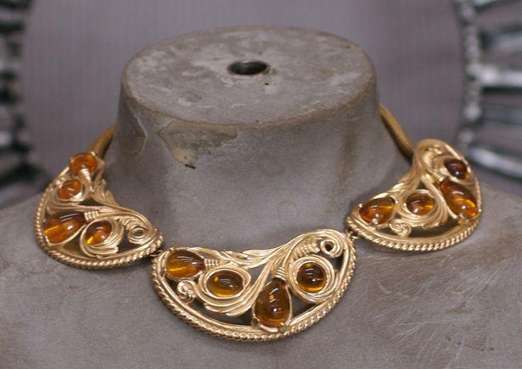Napier Citrine Cabochon Retro Collar 5