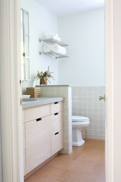 love the cork floors bathroom inspiration pinterest the smalls simple and toilets. Black Bedroom Furniture Sets. Home Design Ideas