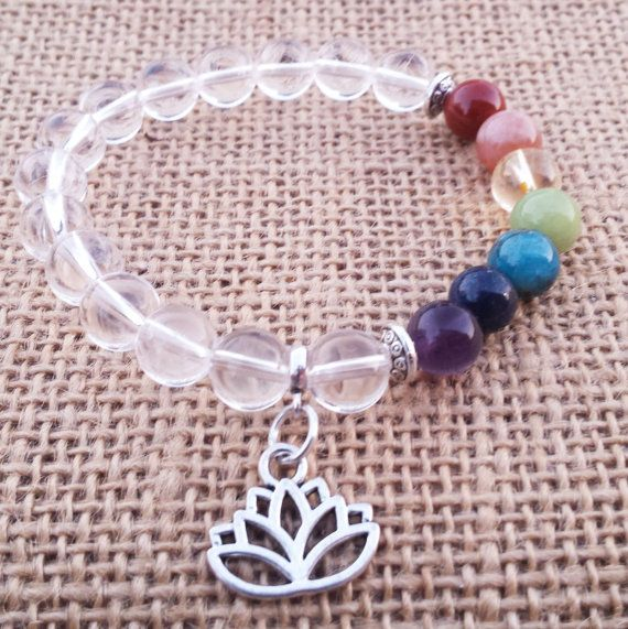Check out this item in my Etsy shop https://www.etsy.com/uk/listing/480957313/chakra-bracelet-lotus-bracelet-clear