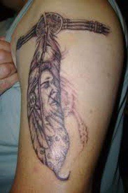 Indian feather tattoos can be designed in several different ways. Indian feather tattoo designs can portray the Indian feather alone or with other symbols. When we take a look at the  Native American culture, we find that feathers were used in a...