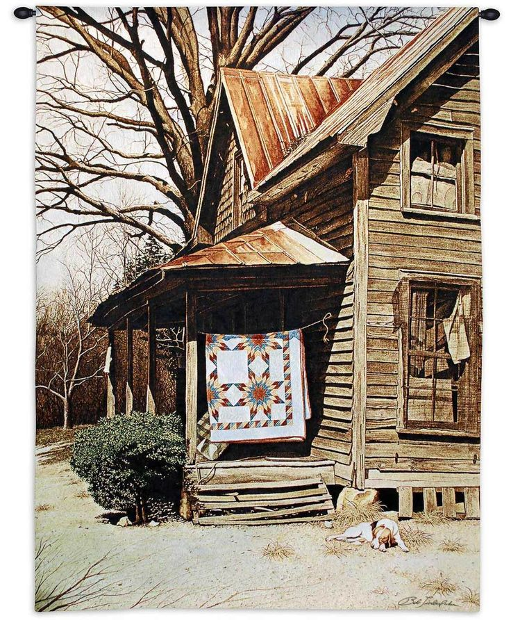 Gilley's House by Bob Timberlake | 41 x 63 | Woven Tapestry