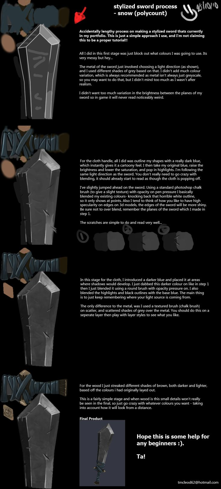 Sword Hand Painted Tutorial - Ta McLeod