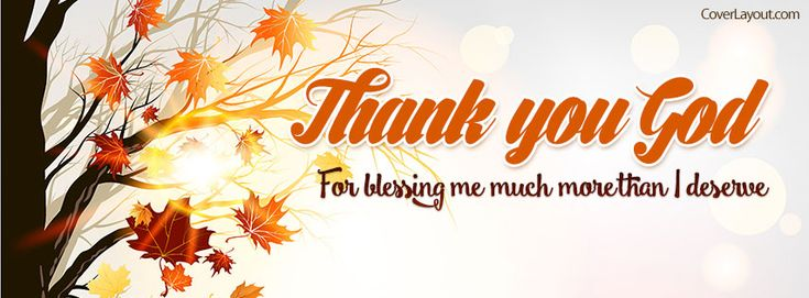 Thank You God For Blessing Me Facebook Cover coverlayout.com