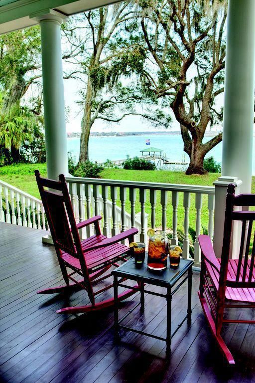 The perfect summer afternoon in the South- #frontporch #sweettea #coastalcarolina