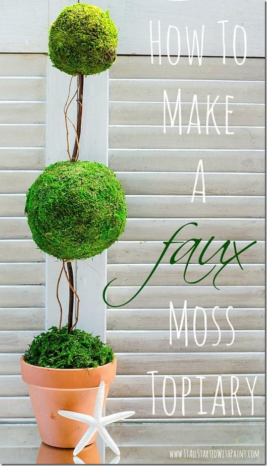 how to make a topiary pottery barn inspired