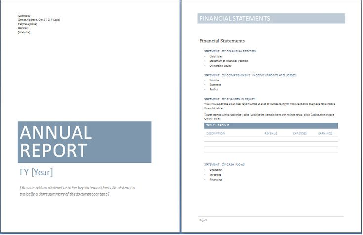 Sample Annual Report Templates ExcelTemple Excel Project - financial report templates