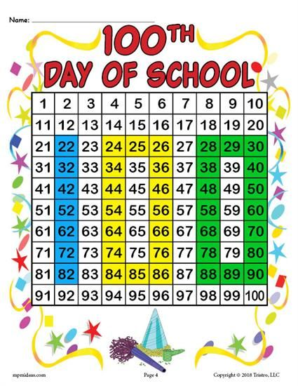 FREE Printable 100th Day of School Place Value Activity! Your preschoolers and kindergartners will have a blast with this place value worksheet as they color the numbers to reveal the Mystery Picture! Get the free 100 Days of School place value worksheets here --> https://www.mpmschoolsupplies.com/ideas/7895/free-printable-100th-day-of-school-place-value-mystery-picture/