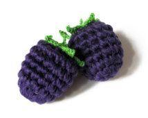 Crochet Blackberry (1pc) - Play Food - Teething Toy