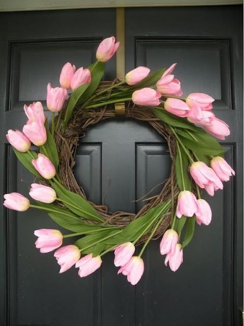 tulip wreath for spring