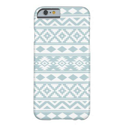 Aztec Essence Ptn IIIb Duck Egg Blue & White Barely There iPhone 6 Case - diy individual customized design unique ideas