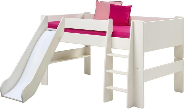 Muffy Halbhochbett mit Rutsche Wenn der Platz knapp ist oder zwei Kinder sich ein Zimmer teilen müssen ist ein Hochbett immer eine gute Idee. Dank der verschiedenen Materialien, Farben und Designs lässt sich das Hochbett zum...
