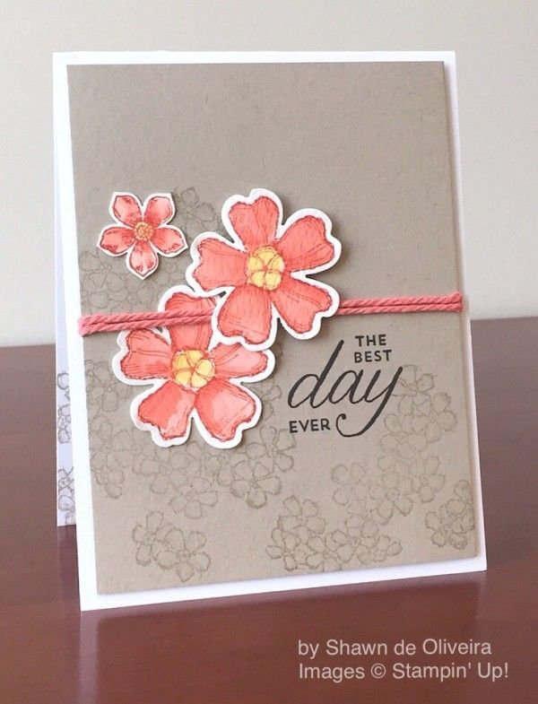 Birthday Blossoms, Petite Petals, Stampin' Up!, by Shawn de Oliveira