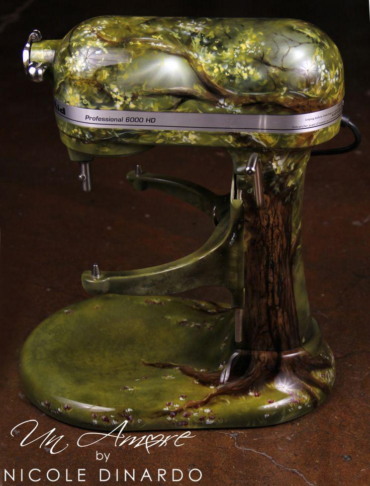 Fairytale Tree Themed Custom Painted Kitchenaid Mixer By