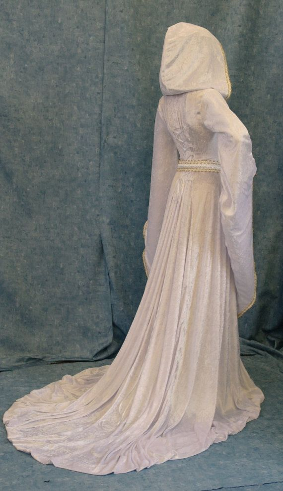 Elven dress wedding dress cosplay dress larp by camelotcostumes