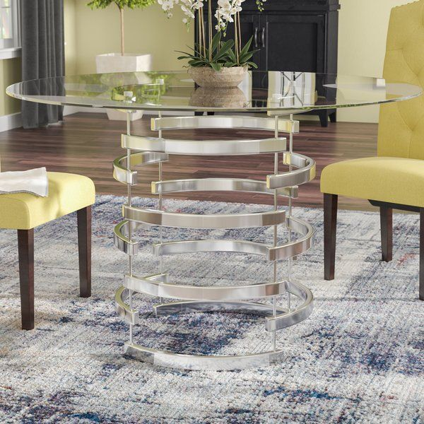Anton Dining Table Glass Round Dining Table Oval Table Dining