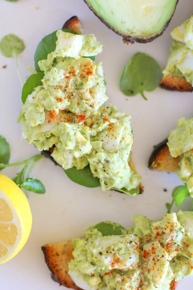 Avocado Egg Salad (mayo-free)