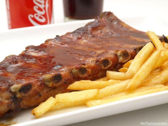 Costillas de cerdo asadas con Coca-Cola - MisThermorecetas