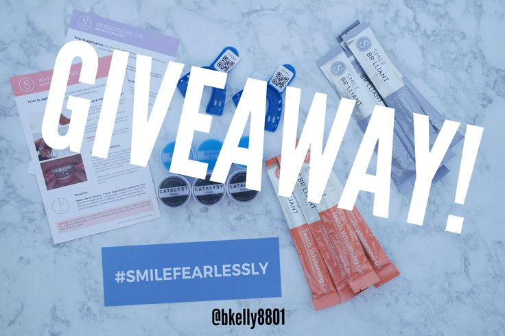 Enter to win your own sensitive at home teeth whitening kit!