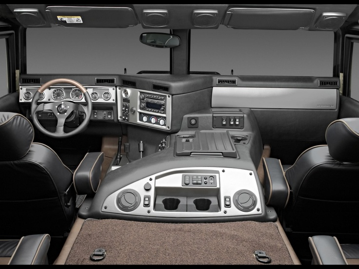 By far the best interior of any vehicle on the road! Hummer H1 Alpha interior