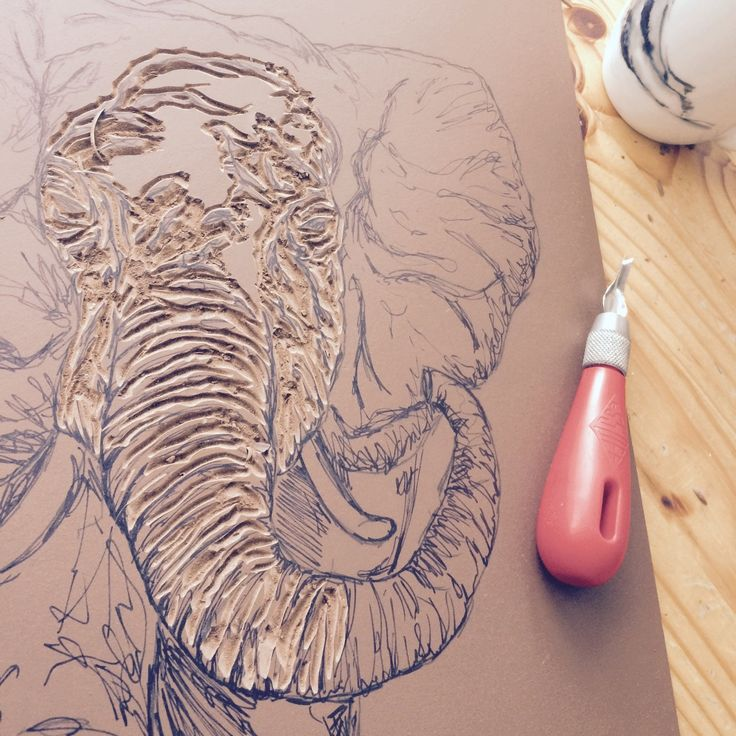 The intricate process of making the Wondering Elephant print!