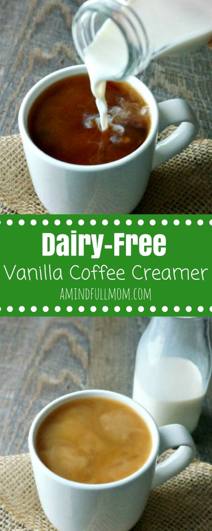 Coconut Vanilla Coffee Creamer Make KETO with sugar free